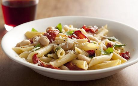 penne-tomatoes-garlic-white-beans